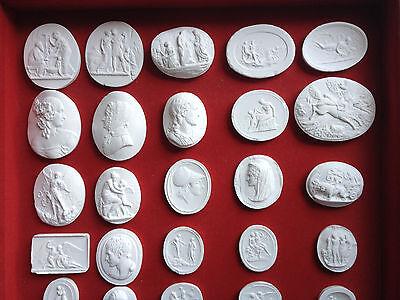 40 Grand Tour Cameos set intaglios Gems Medallions plaster cameo seals Classic 2