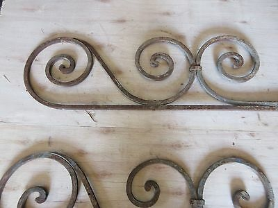 Antique Victorian Iron Gate Window Garden Fence Architectural Salvage #892 3