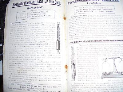 23183 FUCOMA Anleitungen und Apparate zur Untersuchung Milch Rahm Butter Käse 2