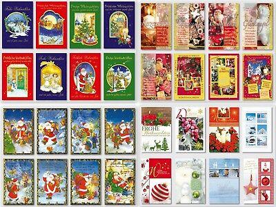 gute Auswahl an Weihnachtskarten,Glückwunschkarten mit Umschlag, Blitzversand 5