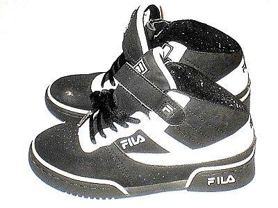 93952f6d2c67 ... Fila Boys Shoes Basketball Sneakers Suede Black White Vintage Kids Size  3 5