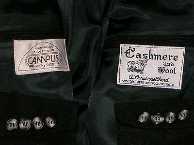 ~~50% CASHMERE Blazer~~ 42L ~ CAMPUS ~ Birmingham Grosse Pointe ~ jacket ~ long 3