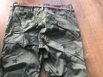 Next Girls Green Star Belted Trousers - Age 11 Years 4