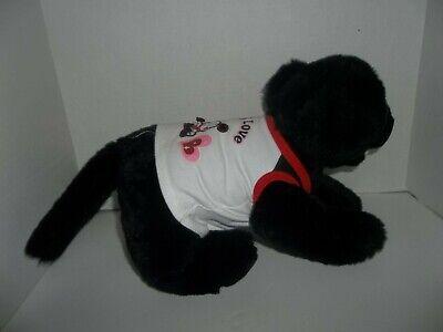 """babw build a bear workshop black lab labrador puppy dog plush 11"""" tall 2"""