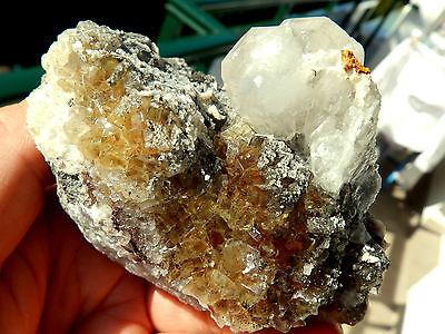 "Minerales"" Fantastico Mineral Fluorescente De Fluorita+Calcita Asturias- 6A15 "" 7"