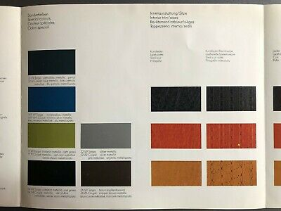 1974 Porsche 911 /& 914 FACTORY issued Color Chart Folder Brochure RARE Awesome