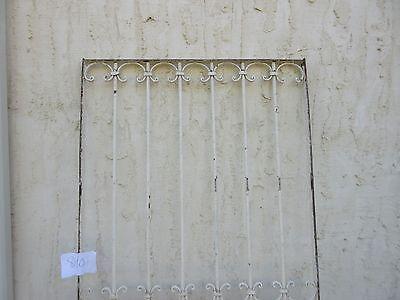 Antique Victorian Iron Gate Window Garden Fence Architectural Salvage #840 2