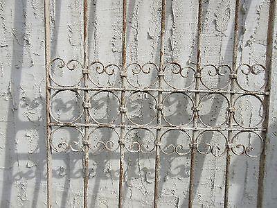Antique Victorian Iron Gate Window Garden Fence Architectural Salvage Door #347 3