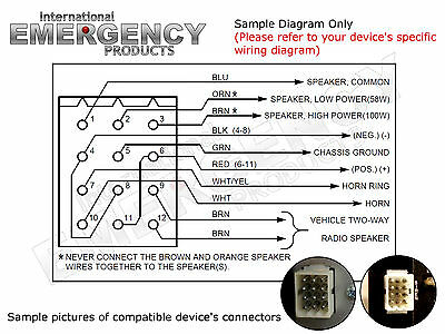 12 PIN CONNECTOR Plug Harness Power Cable for Federal Signal Siren Old Siren Pa Wiring Diagram on