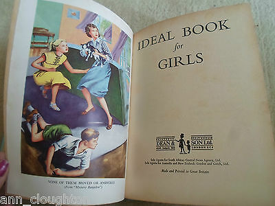 RARE Vintage Retro Book  IDEAL BOOK FOR GIRLS - With 10 Girls Fiction Stories