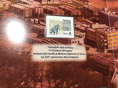 """2019 Folder 250° Scuola Veterinaria di Torino 1799 - 2019 LE 2500 con Errore """"L"""" 3"""