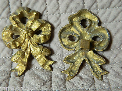Antique Set Of 2 Gilded Bronze Knots Embrace Or Furniture Brackets  Louis Xvi 5