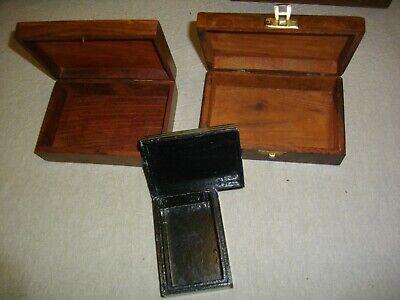 tres joyeros de madera y metal (( vintags)) 17- 16- 8 ctms 3