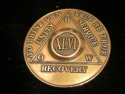 Alcoholics Anonymous recovery medal token chip coin XXII Years 22 Years