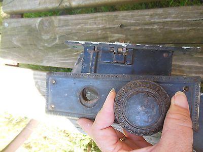 Set Of Vintage Door Knobs And Plates 4