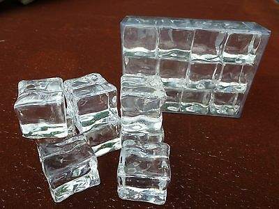 """Fake Faux Acrylic Ice Cubes Crystal Clear 12 Pack 3//4/"""" Inch Square Props Gags"""