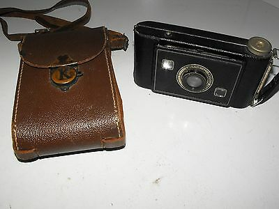 "Vintage Kodak Jiffy Strut Film Camera And Case ""In Good Vintage Condition"" 4"