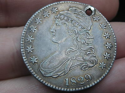 1829 Capped Bust Half Dollar-XF/AU Details, Toning 3