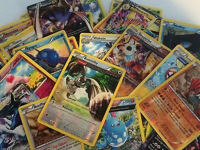 Pokemon TCG : 100 CARD LOT Rare Common Uncommon GUARANTEED RARE + HOLO CARDS!! 6