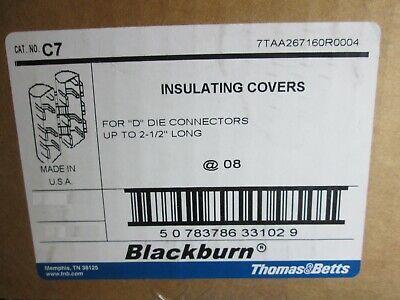 Blackburn C7 D Die H Tap Compression Connector Plastic Cover Lot of (5) 2