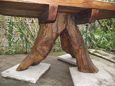 Gartentisch Wurzelmöbel Kirschbaum Wurzelbaumtisch Holztisch Holz