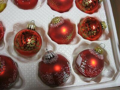 Christbaumkugeln 25 Cm.Konvolut Christbaumkugeln Glaskugeln Perlen Kette Zapfen Rot Gold 6 Cm