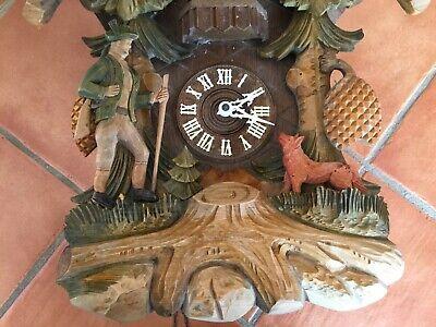 Anton Schneider Soehne Hunter Fox Large Black Forest Rare cuckoo clock 3
