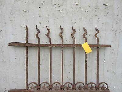 Antique Victorian Iron Gate Window Garden Fence Architectural Salvage Door #304 2