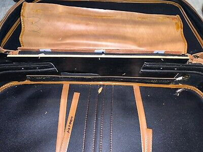 Vintage SCOVILL SUITCASE Tan Faux Leather (3) Piece Luggage 6