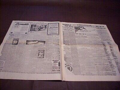 TITANIC NEWSPAPER 1912 Boston Globe/Marsh Murder Story/Ty Cobb Quits Team  !!!!! 3