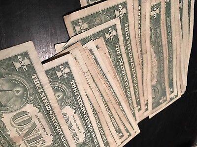 1935-1957 *LUCKY* $1 Silver Certificate Rare Blue One Dollar Bill ...