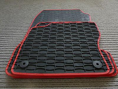 RAND BLAU Gummi- Fußmatten NEU $$$ $$$ Gummimatten für Opel Corsa D