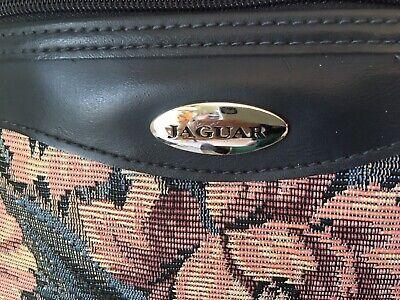 Vintage Jaguar Bag Carry On Tote Travel Luggage Overnight Tapestry Floral 3