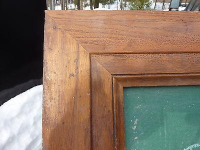 """early 20th century schoolhouse SLATE chalkboard FRAMED OAK molding 49.5"""" x 38"""" 8"""