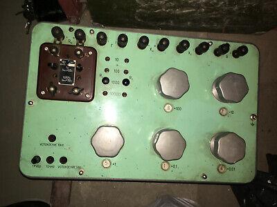 0.0001 1 10 100 111 KOhm 1.11 MOhm decade resistance standard box resistor 0.05 3