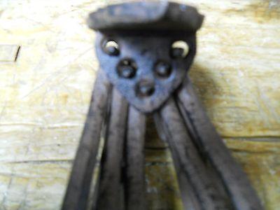 2 Cast Iron Antique Style SWIVEL Coat Hooks Hat Hook Rack Hall Tree Restoration 2