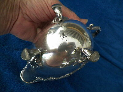 Vntg S.o.c. Silverplated Footed Gravy Boat Grapeleaf Design