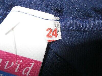 """Girls DAVID LUKE Navy Blue Gym Knickers (White stripes) W24 (23-27"""") - NEW! 8"""