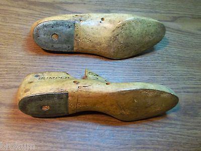 Pair Vintage Maple Wood Size 7C BUMPER GEBL Co Shoe Factory Industrial Last #275