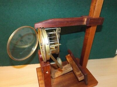 Large heavy duty clock test stand reclaimed hardwood  Fusse and French movements