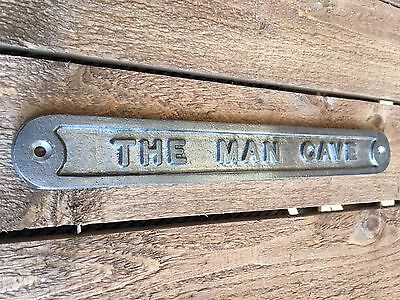 'the Man Cave' Door Sign Shed Garage Vintage Solid Cast Metal Dad Gift - 99319