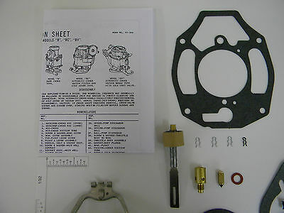 ROCHESTER B BC SUPER KIT CARBURETOR 1932-1962 CHEVY CAR TRUCK 6 CYLINDER