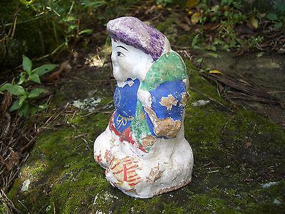 Japan antique clay doll Daikokuten God of Wealth 7 Deities of Good Fortune #8233 3