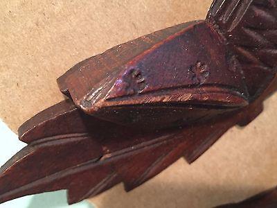 Antique Vintage Set of 4 Decorative Walnut Drawer Pulls Lot 2