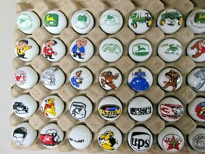 Resale lot 3 50 Advertising /& Cartoon Logo 1 Inch Marbles Great For Collecting