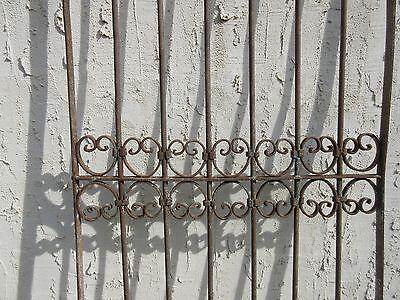 Antique Victorian Iron Gate Window Garden Fence Architectural Salvage Door #354 3