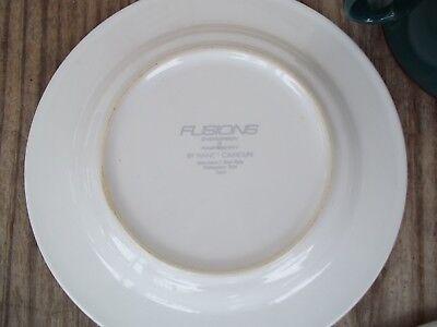 Nancy Calhoun Fusions Evergreen Raspberry Set Dinner Salad Plate Coffee Cup 4 PC 8