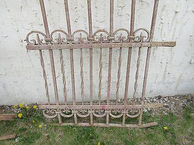 Antique Victorian Iron Gate Window Garden Fence Architectural Salvage Door #314 5