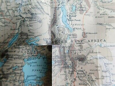 Antique 1903 Lithographed Map-Egypt Africa Nile Basin Red Sea-Stokes Co. COA 5