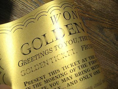 Willy Wonka & Chocolate Factory Replica Wonka Bar and Golden Ticket /Gene Wilder 2